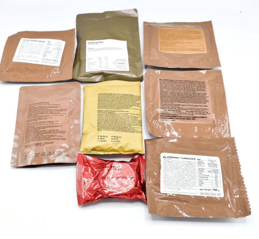 80 Piece British Military Snack Kit