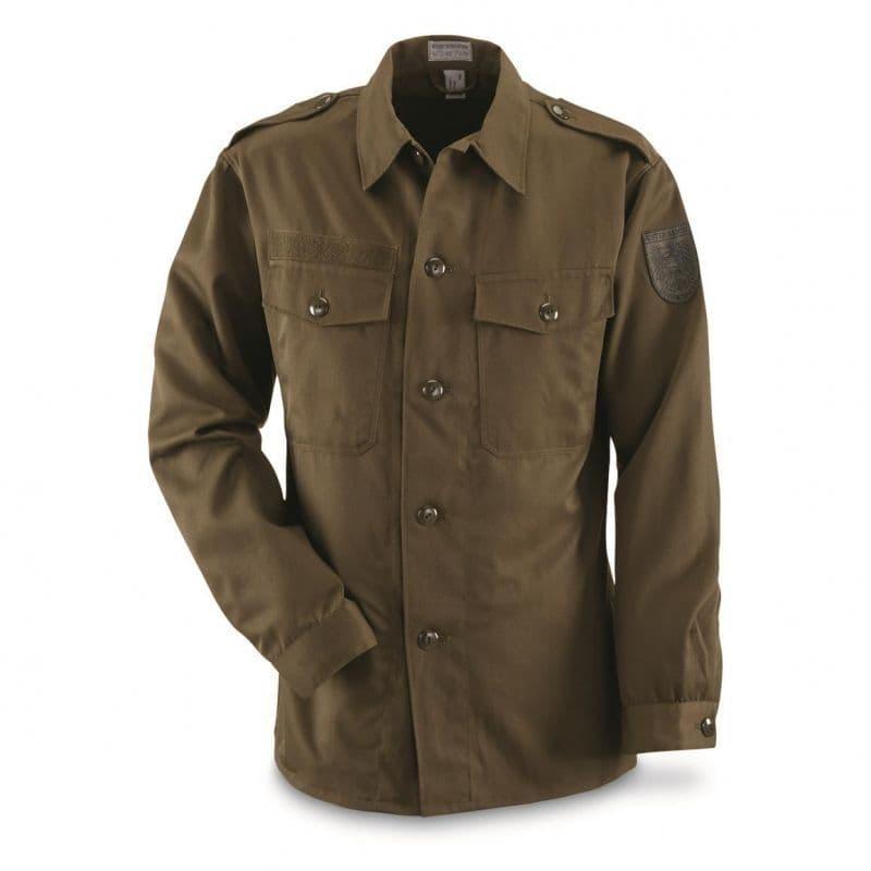 Austrian Military Heavyweight Olive Green Shirt
