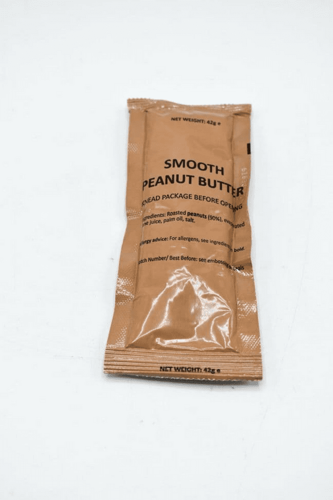 British Army Ration Meal Pouch - Smooth Peanut Butter