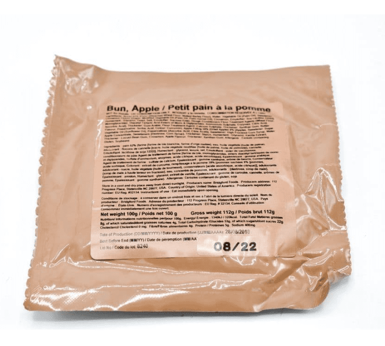 British Army Ration Pack Meal Pouch - Apple Bun