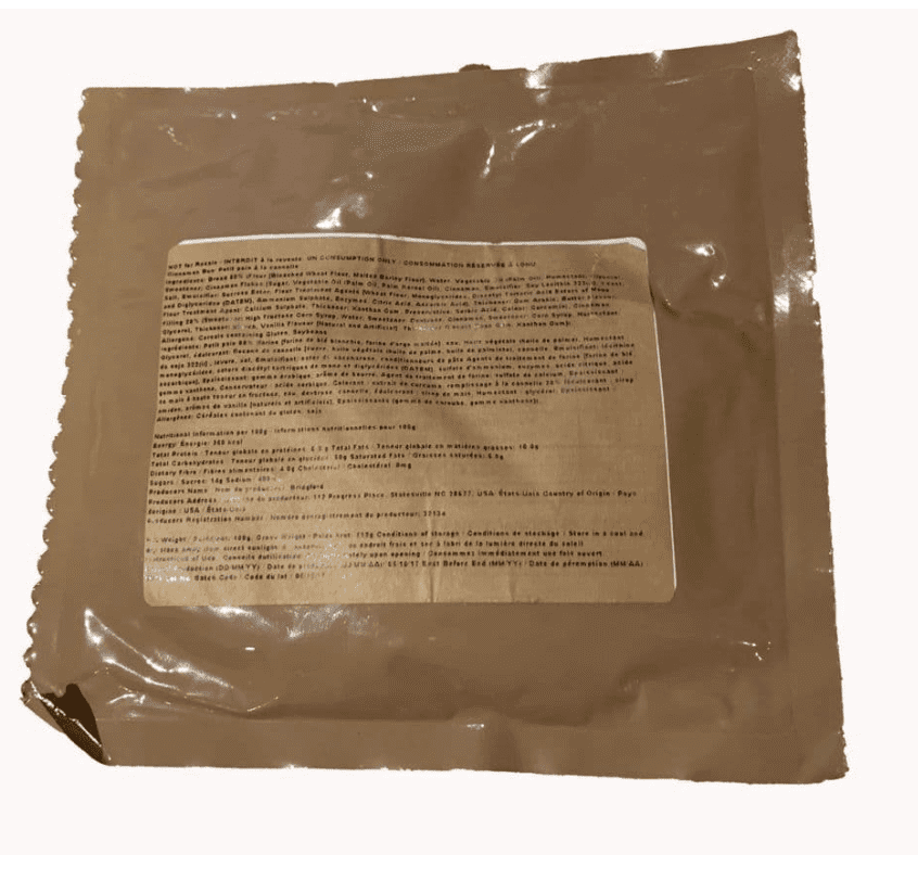 British Army Ration Pack Meal Pouch - Cinnamon Bun