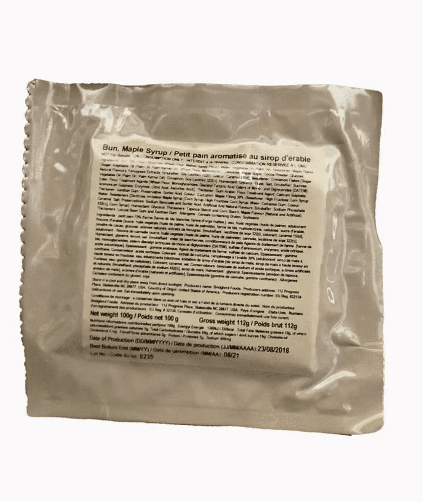 British Army Ration Pack Meal Pouch - Maple Syrup Bun