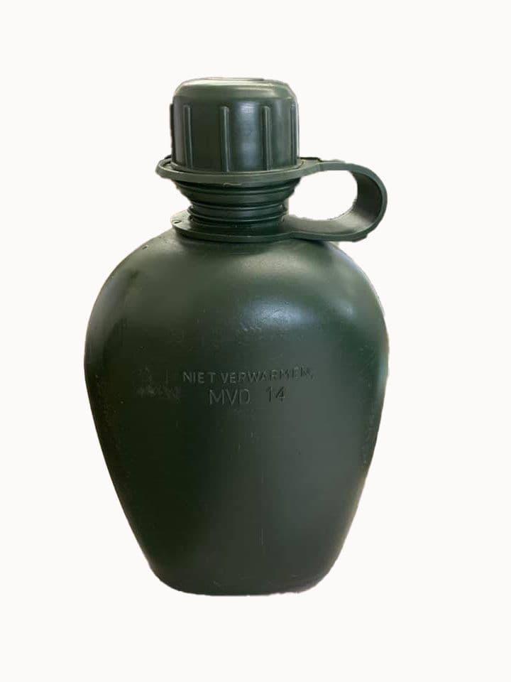 Dutch  Military 1L Water Bottle - Olive