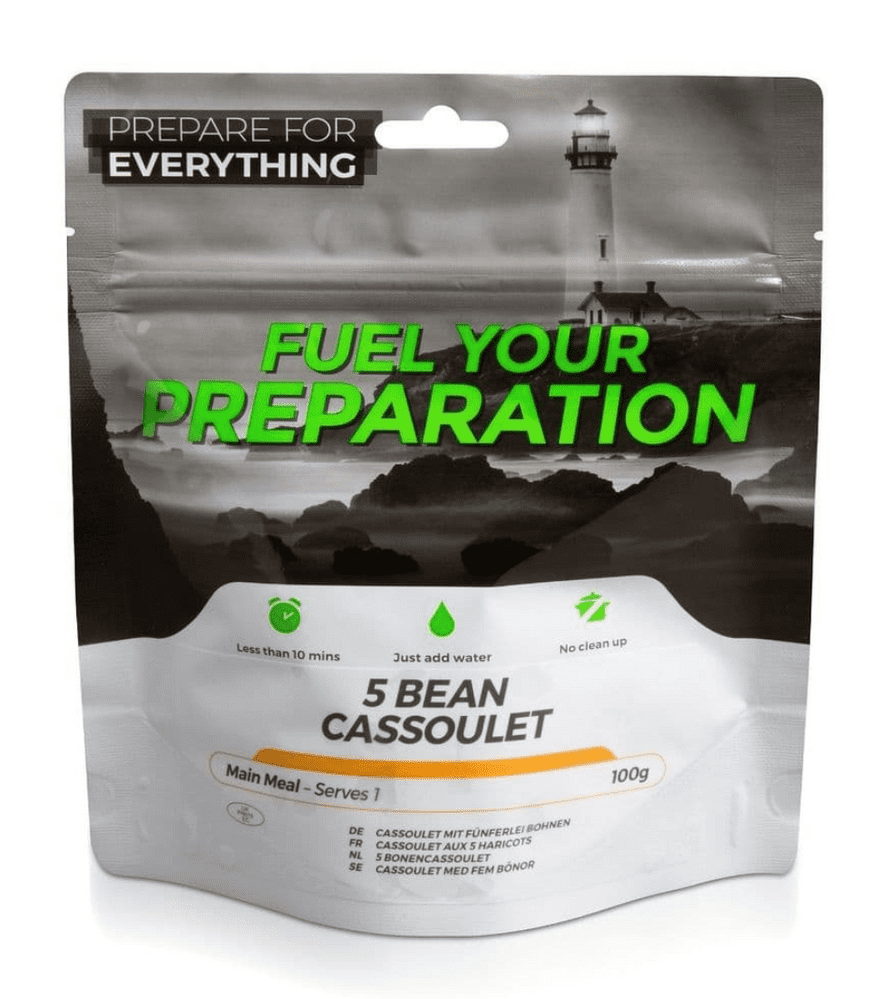 Fuel Your Preparation Freeze Dried Food Ration Meal Pouch - 5 Bean Cassoulet