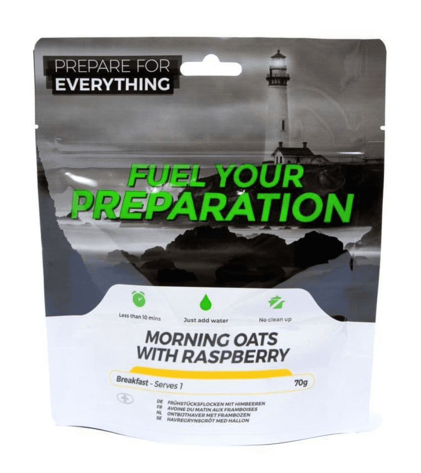 Fuel Your Preparation Freeze Dried Food Ration Meal Pouch - Morning Oats With Raspberry