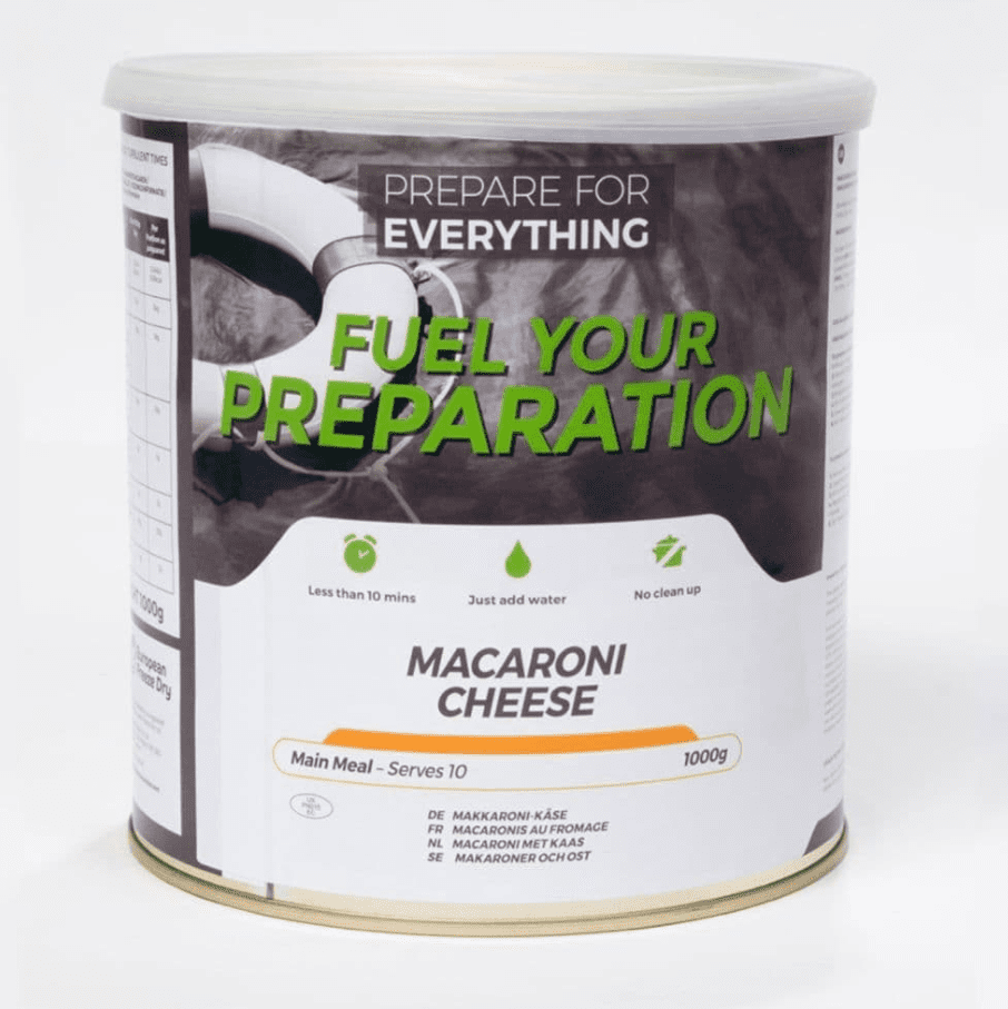 Fuel Your Preparation Freeze Dried Food Ration Meal Tin - Macaroni Cheese