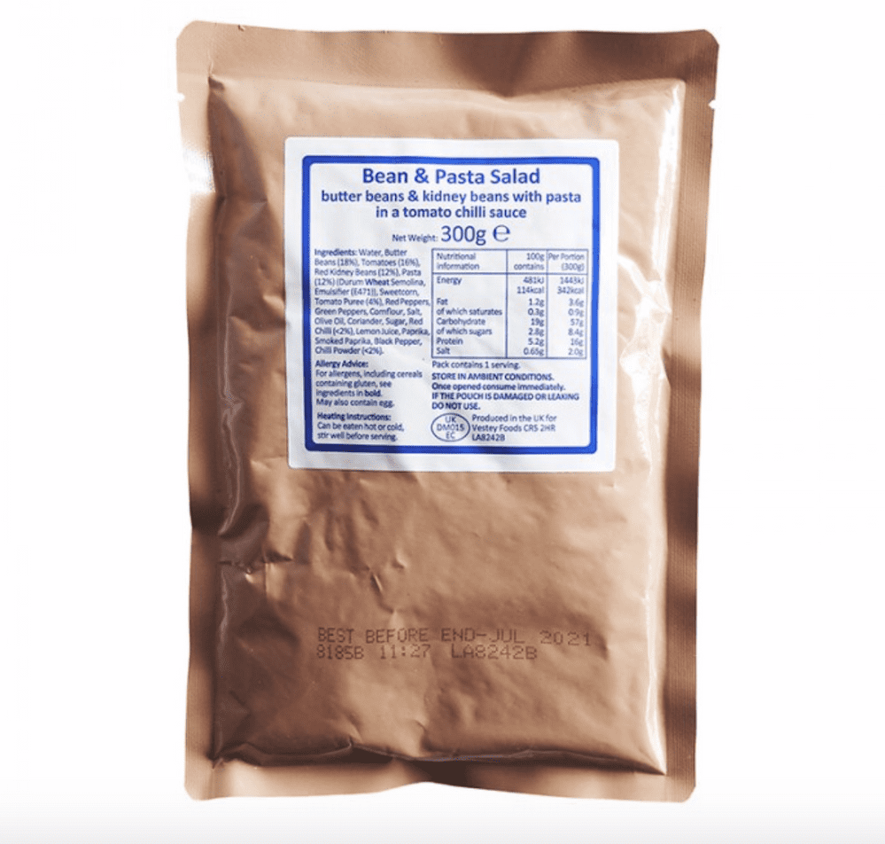 Genuine British Army Ration Meal Pouch - Various Menus