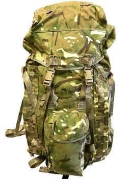 Genuine British Military Issue 90L MTP Bergen - GRADE 2