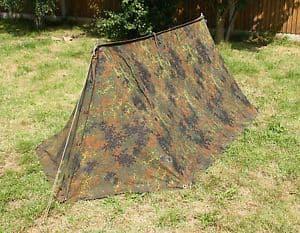 Genuine German Military Flecktarn 2 Man Tent