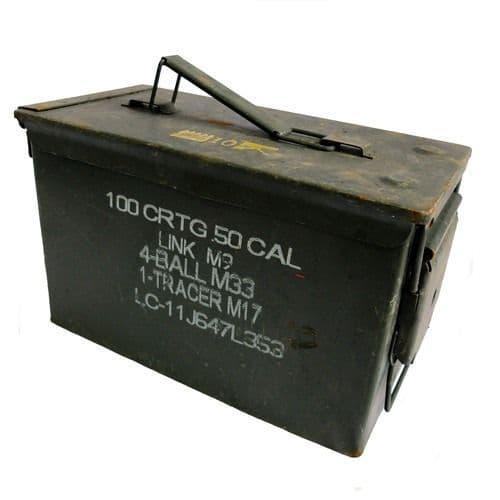 Genuine Military 50 cal Ammo Storage Box - Grade 2
