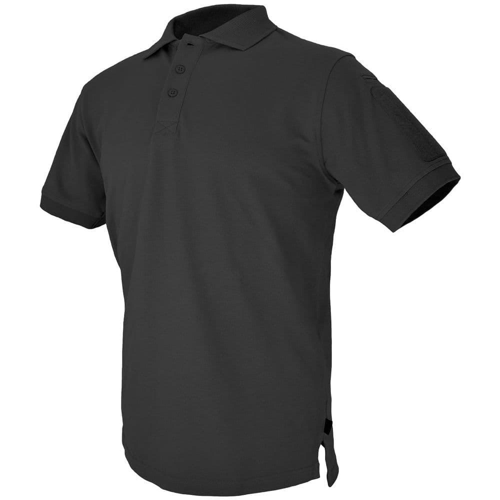 Hazard 4 Battle Undervest Plain Black Polo Shirt