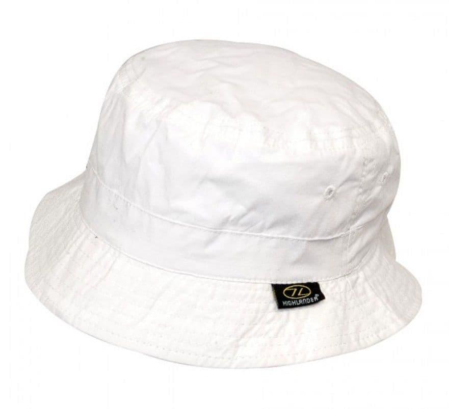 Highlander Premium Sun Hat White - Medium