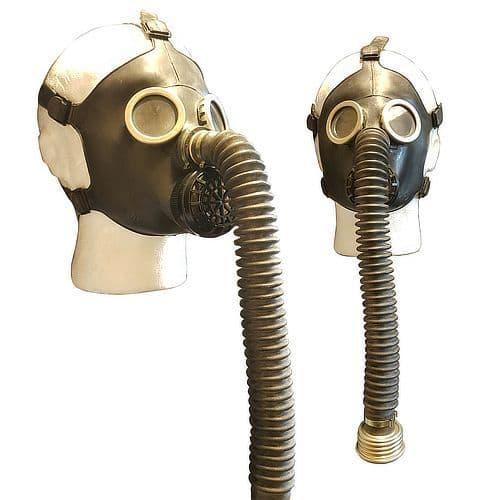 Kids Black Soviet Russian Gas Mask & Bag