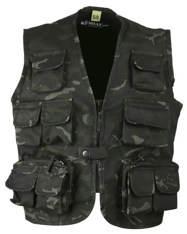 Kombat UK BTP Black Tactical Vest - Kids