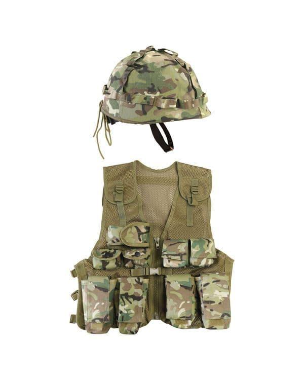 Kombat UK Kids Assault Vest & Helmet Set - BTP