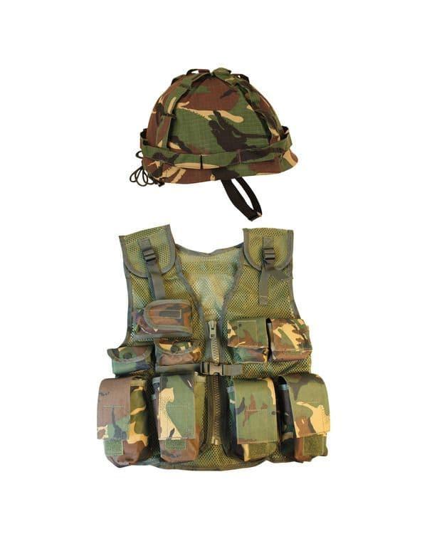 Kombat UK Kids Assault Vest & Helmet Set - DPM