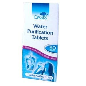 Oasis / Aquatabs Water Purification Tablets- 50 Tablets