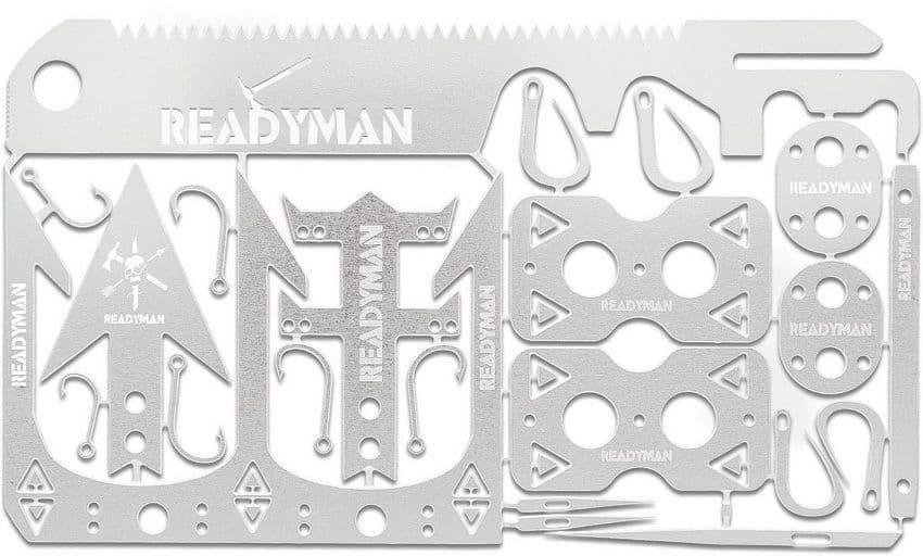 Readyman Enhanced Wilderness Survival Card Tool