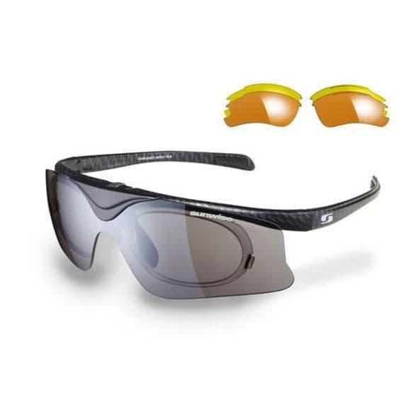 Sunwise Sunglasses with 3 Sets of Interchangeable Lenses - Austin Carbon