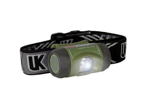 Underwater Kinetics 3AAA eLED Vizion High Intensity Waterproof Headlamp - Various Colours