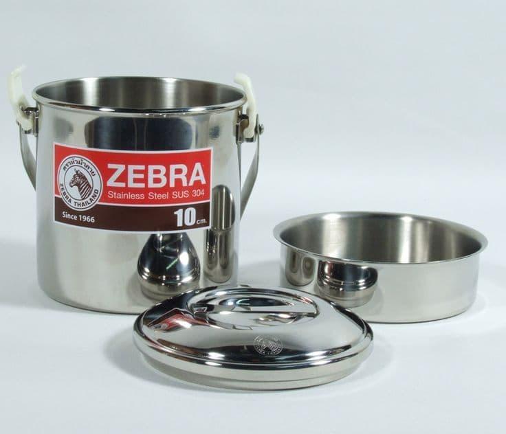 Zebra 10cm Loop Handle Billy Can Cooking Pot