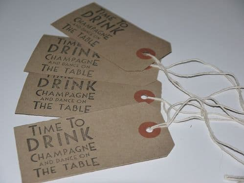 Drink Champagne Tags 10pk
