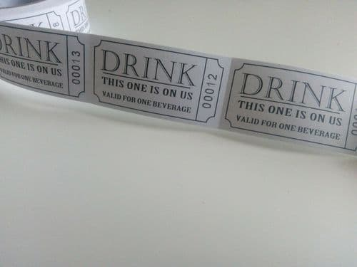 Free Drink Tickets 250pk - Whole Reel