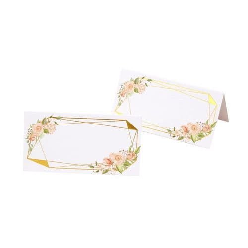 Geo Floral Place Cards 25pk