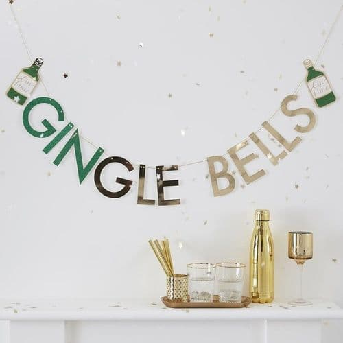 GINgle Bells Christmas Bunting