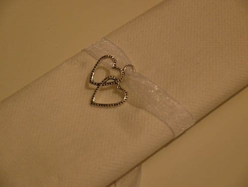 Heart Napkin Ties 10pk