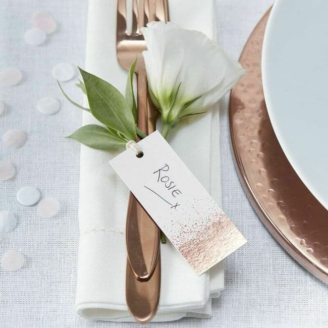 Rose Gold Luggage Tags 10pk