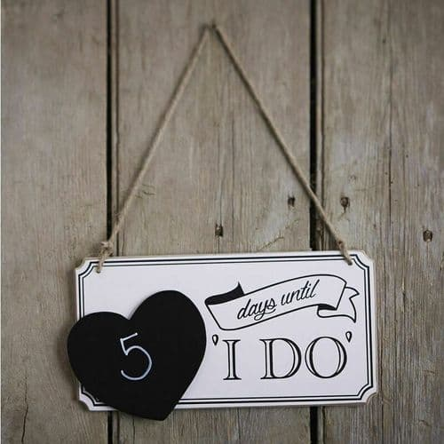 Wedding Countdown Chalkboard Sign