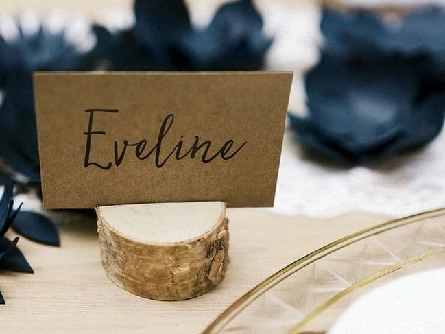Wooden Place Card Holders 6pk