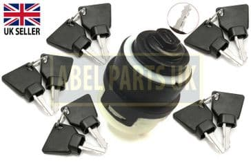 IGNITION SWITCH WITH 10 KEYS FOR JCB (PART NO. 701/80184, 701/45500)