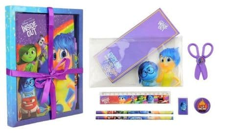 DISNEY Inside out Lockable Diary Note Book With PEN & Pencil case & GEL