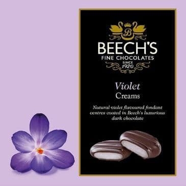 Beech's Dark Chocolate Violet Creams VEGAN