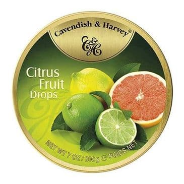 Cavendish & Harvey Citrus Fruit Drops (Travel Tin)
