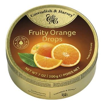 Cavendish & Harvey Fruity Orange Drops (Travel Tin)