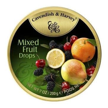 Cavendish & Harvey Mixed Fruit Drops (Travel Tin)