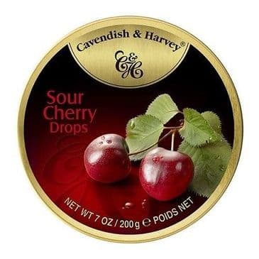 Cavendish & Harvey Sour Cherry Drops (Travel Tin)