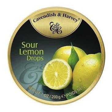 Cavendish & Harvey Sour Lemon Drops (Travel Tin)