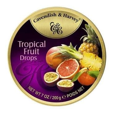 Cavendish & Harvey Tropical Fruit Drops (Travel Tin)