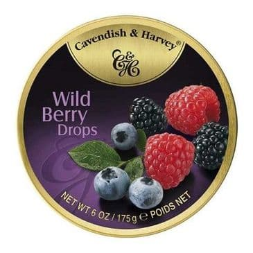 Cavendish & Harvey Wild Berry Drops (Travel Tin)