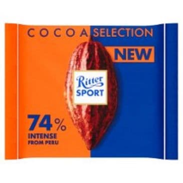 Ritter Sport Fine Dark 74% Intense from Peru