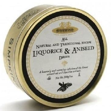 Simpkins Liquorice & Aniseed Drops (Travel Tin)