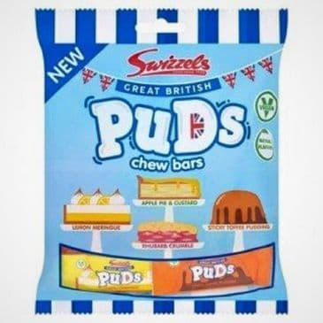 Swizzels Great British Puds Chew Bars VEGAN