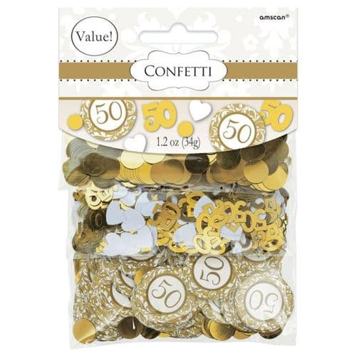 50th Anniversary-Gold Confetti Mixes - 34g Pack