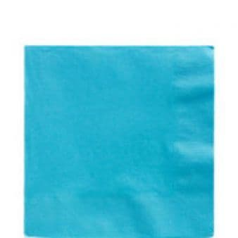 Caribbean Blue Luncheon Napkins 2ply 33cm - Pack of 20