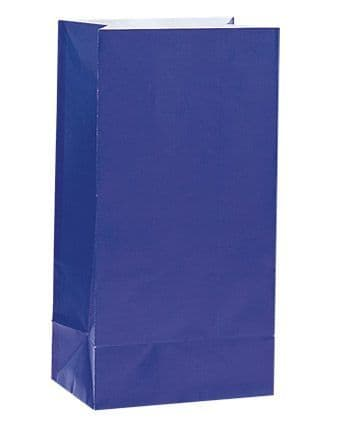 Paper Party Bags - Plain - Royal Blue (Pack of 12)