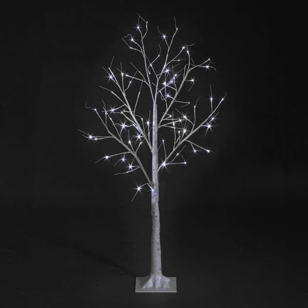 4ft LED Birch Christmas Twig Tree Ice White LEDs Outdoor, Indoor